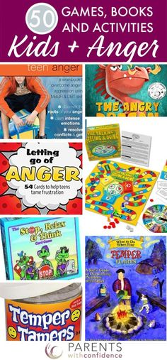 This mega list of anger management resources for kids includes books, games and activities to help kids learn about anger, develop self control and discover healthy coping techniques for intense emotions. Anger Management Books, Anger Management Activities For Kids, Children Activities, Classroom Management, Anger Coping Skills, Anger In Children, Feelings Games, How To Control Anger, Dealing With Anger