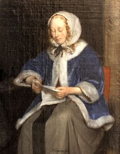 Gerard ter Borch (II) (ZWOLLE 1617 - 1681 DEVENTER) Lady Reading a Letter