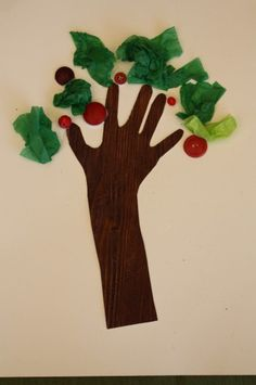 Tissue paper, button apple trees from Happy Hooligans