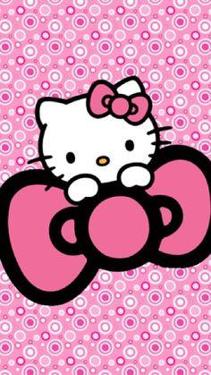 Hello Kitty Wallpaper Hd, Hello Kitty Backgrounds, Bear Wallpaper, Cute Wallpaper Backgrounds, Cute Wallpapers, Hello Kitty Art, Hello Kitty Coloring, Hello Kitty Pictures, Sanrio Hello Kitty