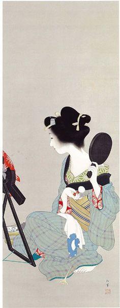 """Picture of Makeup"" by Shoen Uemura (ca. 1913)"