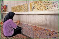 I didn't think that there were services that repair rugs. I have some that are unraveling that need to be fixed. I wonder if they put them up against a wall like this one.