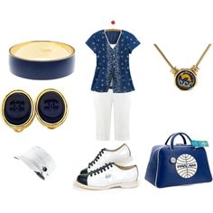 Navy, White and Gold - Plus Size