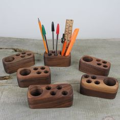 wooden gifts Small Wooden Desk Caddy, Wooden Pencil And Pen Holder, Wood Desk Organizer, Walnut Wood Desk Accessory, Personalized Gift Small Wooden Projects, Small Wooden Desk, Wooden Crafts, Wooden Pen Holder, Wood Pencil Holder, Desk Caddy, Wooden Desk Organizer, Wood Gifts, Wood Desk