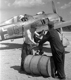 Fw-190F_Immola_Italy_1944  can you imagine  the effort to pump fuel