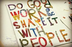 whatever your work is!