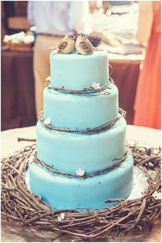 Blue rustic wedding cake | Image Getz Creative