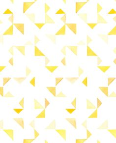 Pattern- Triangles in Yellow — Yao Cheng Design