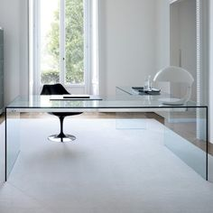 Clear conference desk