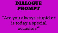 Dialogue Writing Prompt