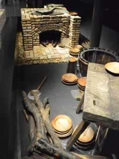 The Mary Rose - The galley was discovered almost intact, with the chopping board still bearing knife cutting marks and the only known Tudor firewood to survive to this day. Every piece, including the bricks, is an original artefact found with the wreck.