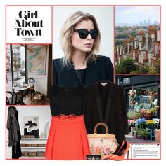 """Girl About Town"" by kittyfantastica ❤ liked on Polyvore featuring Coast, WearAll, Tory Burch, Topshop and Yves Saint Laurent"