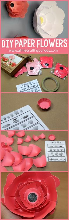 DIY Big Bloom Paper Flowers! You will not believe how easy it is to create paper flowers.