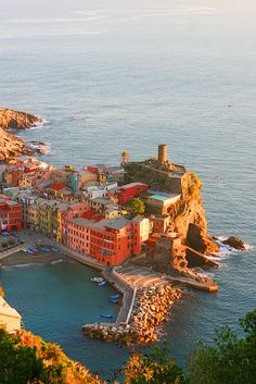 Vernazza View from the Cinque Terre Hills, Italy
