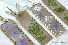 Pressed Flower DIY Bookmarks | AllFreeKidsCrafts.com