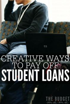 These creative ways to pay off student loans will help you add more money to your debt pay off plan without eating too much into your budget. personal finance tips, personal finance organization #personalfinance