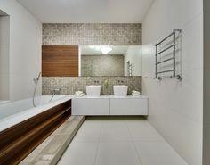 Spacious Home with a Warm Interior in Kiev - Design Milk Courtyard House Plans, Toilet Design, False Ceiling Design, Bathroom Trends, Modern Bathroom Design, Bathroom Styling, Beautiful Bathrooms, House Design, Interior Design