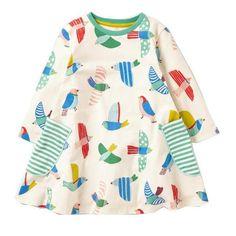 3/4 Sleeve Jersey Print Tunic
