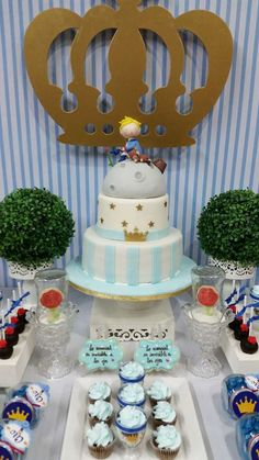 Little Prince birthday party cake and dessert table! See more party ideas at CatchMyParty.com!