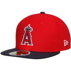 58a68a77a13d7 Youth Los Angeles Angels New Era Red Navy Main Logo Diamond Era 59FIFTY  Fitted Hat