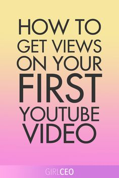 In today's post, I'm going to cover what types of video content you should and shouldn't create for your brand new YouTube Channel and how to get views on your very first YouTube vid