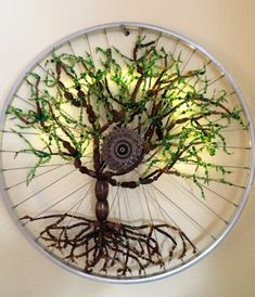 Items similar to Moondapple Sapling Bicycle Art Recycled Bike Art, Spring Tree, Roots on Etsy