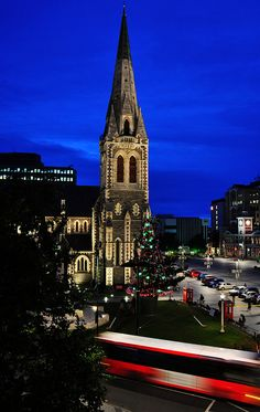 The iconic Christchurch Cathedral, South Island. Sadly damaged in the February 2011 quake. Photo by Brian Bruner. Places To Travel, Places Ive Been, Oh The Places You'll Go, Places To Visit, Vacation Destinations, Dream Vacations, Places Around The World, Around The Worlds, Wonderful Places
