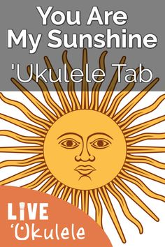 ʻUkulele tab and song chords for You Are My Sunshine. Learn to play the picking melody along with chords and lyrics for strumming and singing this traditional favorite. Ukulele Tabs, Ukulele Songs, Sunshine Songs, Soloing, You Are My Sunshine, Lyrics, Guitar, Pdf, Traditional