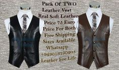 For Sale New Real Soft Leather Vest Once a time you work with us you really enjoyed because we have good quality and cheap rate Our product has high quality but low price.Our motto is to provide leather to everyone.. Email: pakistanleather006@gmail.com Interested people contact us inbox or whatsapp+923016190205 like our page, www.facebook.com/pages/Pakistan-Leather/1444754339103746