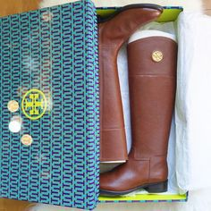 9dc75e4e55e07 These Tory Burch Boots in Brown ❤ Riding Boots