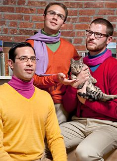 HA! I like the cat, and the glasses.