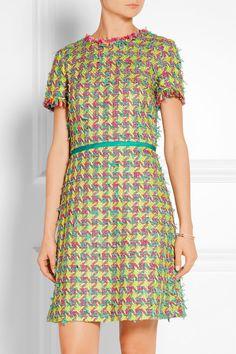 Boutique Moschino   Fringed bouclé-tweed mini dress   NET-A-PORTER.COM