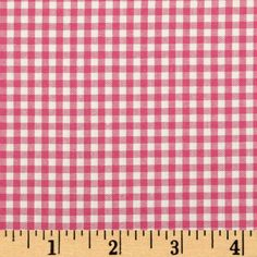 Kaufman 1/8'' Carolina Gingham Fuchsia from @fabricdotcom  From Robert Kaufman Fabrics, this light weight woven yarn dyed gingham fabric is extremely versatile.  It can be used to create stylish summer dresses, children's apparel and blouses.  It can also be used to make tablecloths, curtains and even handkerchiefs.  Checks measure 1/8''. Remember to allow extra yardage for pattern matching.