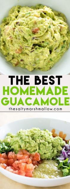 The Best Guacamole Recipe! This classic guacamole has a secret ingredient that m… The Best Guacamole Recipe! This classic guacamole has a secret ingredient that makes it the absolute best! An easy recipe for guacamole and how to make it! Healthy Recipes, Mexican Food Recipes, Healthy Snacks, Vegetarian Recipes, Cooking Recipes, Ethnic Recipes, Healthy Appetizers, Best Easy Recipes, Dinner Healthy