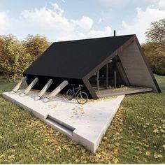 Woodland Cabin concept by @ardesignstudio Via @architecturedotcom . . for credit or removal 👉👉 (DM) . . #archi_philo #archistudent…