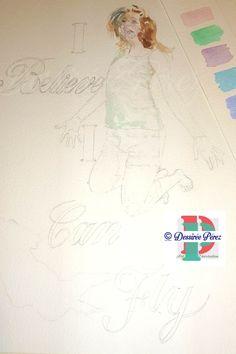 #workinprogress Step 2 , #passoapasso passo 2 #watercolorpainting #acquerello #dipinto #retratoenacuarela for a #customportrait #ritrattopersonalizzato #fun #happy #ibeleiveicanfly #ispiration #girl #ragazza #chica