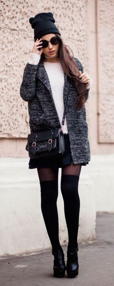 100+ Fall Outfit Ideas to Copy - Slouchy Hat
