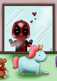 #Little #Deadpool #Fan #Art. (Deadpool love) By: Juliz86. (THE * 5 * STÅR * ÅWARD * OF: * AW YEAH, IT'S MAJOR ÅWESOMENESS!!!™) [THANK U 4 PINNING!!!<·><]<©>ÅÅÅ+(OB4E)