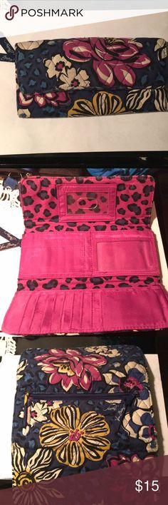 Vera Bradley wallet. Used condition, minimal wear Cute wallet by Vera Bradley - looks brand new on inside, only wear is on front flap. Note 1st Pic. Vera Bradley Bags Wallets
