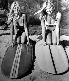 .. Vintage surf ..love the hairstyle on the left!