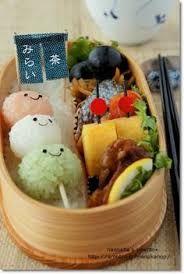 Onigiri Dango Skewer Kyaraben Bento by Naohaha. , Onigiri Dango Skewer Kyaraben Bento by Naohaha. Cute Food, Good Food, Yummy Food, Bento Recipes, Cooking Recipes, Bento Ideas, Cooking Tips, Japanese Food Art, Japanese Sweets
