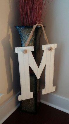 Shabby Chic Initial Door Hanger on Etsy, $35.00.. So cute!