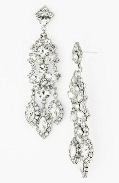 Nordstrom 'Occasion' Crystal Chandelier Earrings $95