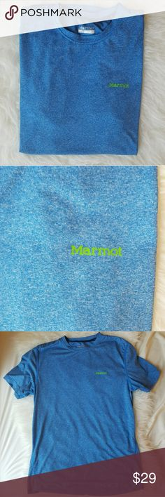 Men's Marmot Active Tee EUC. My husband prefers regular cotton tee shirts when he works out, so this was worn maybe once or twice. Still in perfect condition. Feel free to make an offer or add to a bundle ❤ Marmot Shirts Tees - Short Sleeve