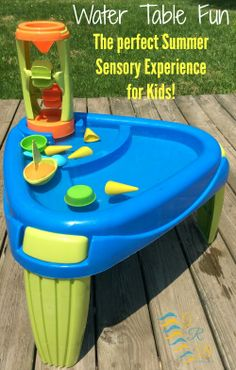 A therapy blogger shares her favorite summer toy: Water tables!   www.GoldenReflectionsBlog.com