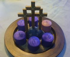 Crosses & Candles - simple and perfect decor for Lent