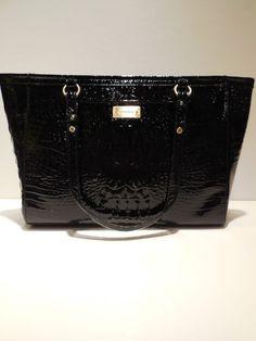 NWT ~ Brahmin Medium Arno Tote Black (Glossy) Melbourne Shoulder Bag H13547BK #Brahmin #TotesShoppers