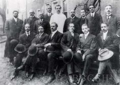 Mercy Hospital Founding Fathers, including: Dr. Strickland, Dr. James, Dr. Hilton, Dr. Cherry, Dr. Warrick, Dr. Abele, Dr. Boyer, Dr. Minton, Dr. Jackson, Dr. Howard, Dr. Hinson, and Dr. Coates. Image courtesy of the Barbara Bates Center for the Study of the History of Nursing.
