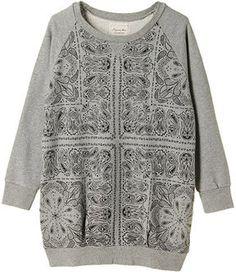 Bandana sweatshirt / ShopStyle(ショップスタイル): LagunaMoon バンダナ柄スエットワンピース