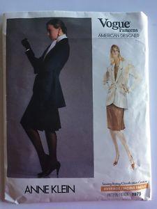 Vogue American Designer Ladies Suit Tails Sewing Pattern Anne Klein Sz 14 16 18  | eBay